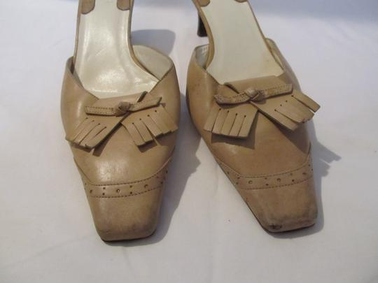Gucci Leather Imported Beige Mules Image 1
