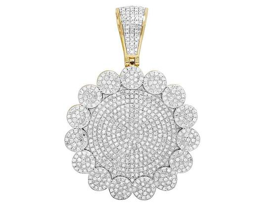 Preload https://img-static.tradesy.com/item/21853793/jewelry-unlimited-10k-yellow-gold-diamond-iced-cluster-medallion-pendant-25-ct-2-charm-0-0-540-540.jpg