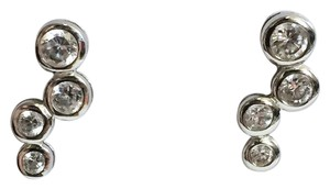 Silver works cubic zirconia Sterling silver 925 silver works bubble earrings - item med img