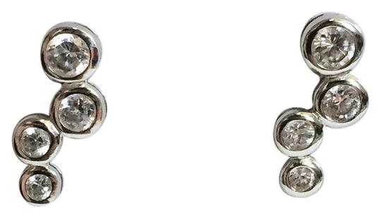 Silver works cubic zirconia Sterling silver 925 silver works bubble earrings Image 0