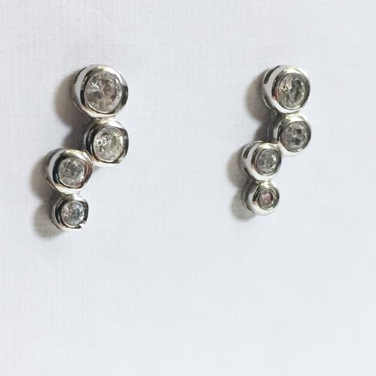 Silver works cubic zirconia Sterling silver 925 silver works bubble earrings Image 1
