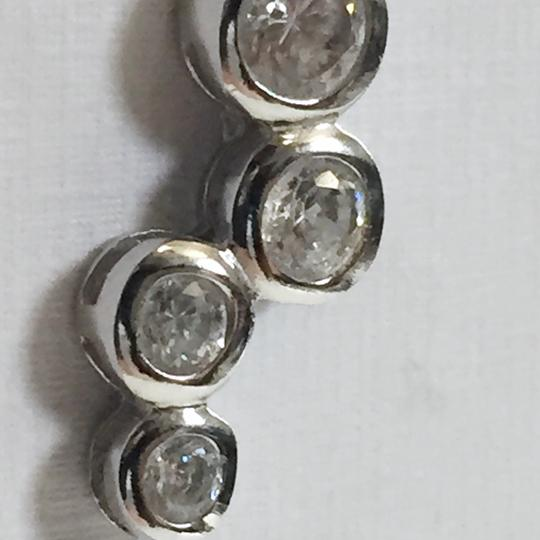 Silver works cubic zirconia Sterling silver 925 silver works bubble earrings Image 2