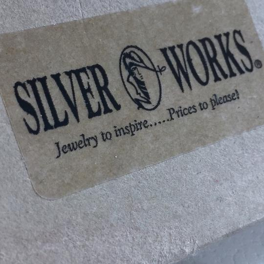 Silver works cubic zirconia Sterling silver 925 silver works bubble earrings Image 7