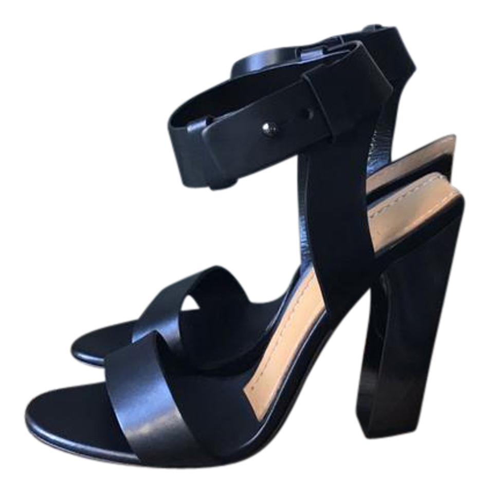 Tom New Ford Black New Tom Leather Ankle-strap 105mm Sandals 9c517b