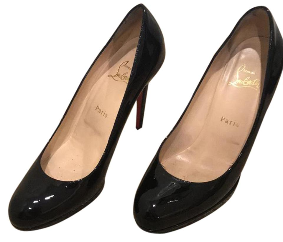 san francisco f2bea 9b32e Christian Louboutin Black Patent Leather New Simple 120 Pumps Size EU 38.5  (Approx. US 8.5) Regular (M, B) 56% off retail