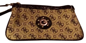 Guess By Marciano Studded Wristlet in monogram