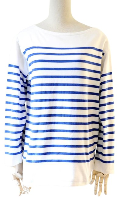 Preload https://img-static.tradesy.com/item/21854382/saint-james-blue-slouchy-sweater-tee-shirt-size-8-m-0-2-650-650.jpg
