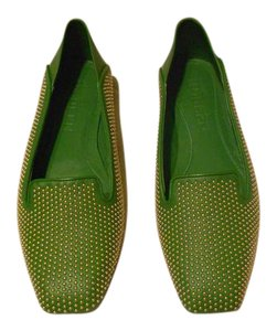 Alexander McQueen Soft/Supple Comfortable Studded Green Flats