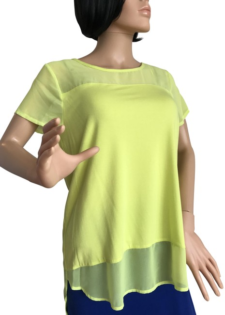 Preload https://img-static.tradesy.com/item/21854564/vince-camuto-neon-yellow-solar-glow-tunic-size-petite-8-m-0-3-650-650.jpg