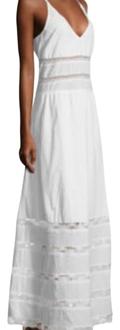 Item - White Tiered Cotton Lace Desss Long Casual Maxi Dress Size 4 (S)