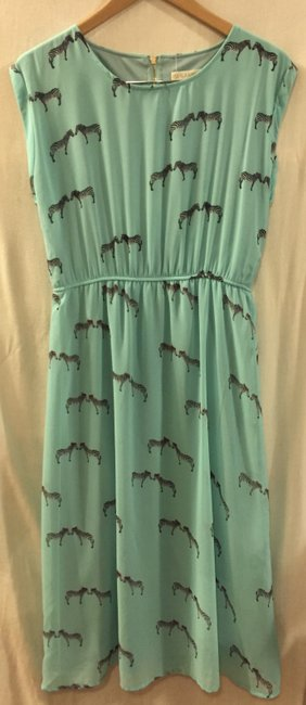 Aqua Maxi Dress by Sugarhill Summer Midi Animal Print Image 6