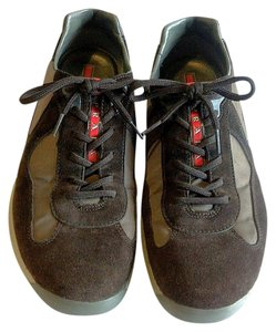 Prada Men's Men's Sneakers America's Cup Sneakers Brown Tan Athletic