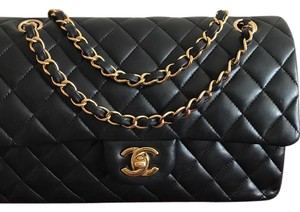 78c35f48277380 Added to Shopping Bag. Chanel Shoulder Bag. Chanel Double Flap Gold-tone  Metal Black Lambskin ...