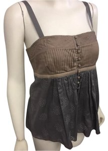 Catherine Malandrino Top Gray & Taupe
