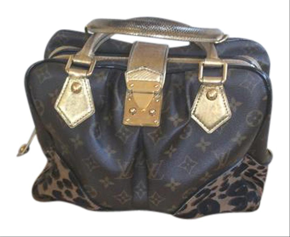e660ec42f38d Louis Vuitton Limited Edition Mono Leopard Adele Brown Calf Hair ...
