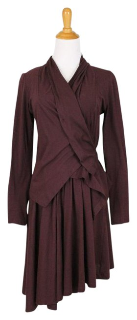 Preload https://img-static.tradesy.com/item/21855107/morgane-le-fay-burgundy-sleeveless-organic-cotton-silk-lined-jacket-mid-length-night-out-dress-size-0-1-650-650.jpg