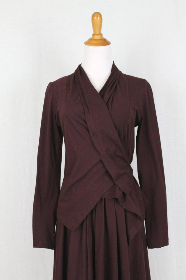 6b371cf379 Morgane Le Fay Burgundy Two Piece Jacket Set Mid-length Cocktail Dress Size  0 (XS) 89% off retail