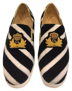 Christian Louboutin Sneaker Boat Striped Mariniere Terry Navy/White Flats