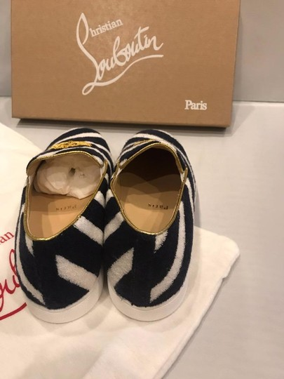 Christian Louboutin Sneaker Boat Striped Mariniere Terry Navy/White Flats Image 4