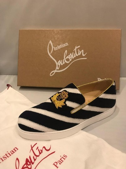 Christian Louboutin Sneaker Boat Striped Mariniere Terry Navy/White Flats Image 5