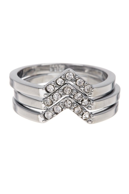 Item - Silver Crystal Stacked Set 7 Ring