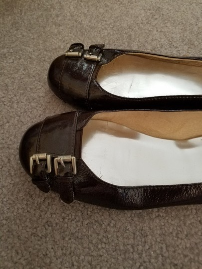 Michael Kors Patent Leather Brown Flats Image 1