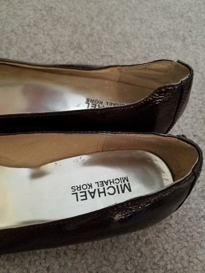 Michael Kors Patent Leather Brown Flats Image 2