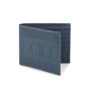 Salvatore Ferragamo Salvatore Ferragamo Logo Leather Bio-fold Men's Wallet