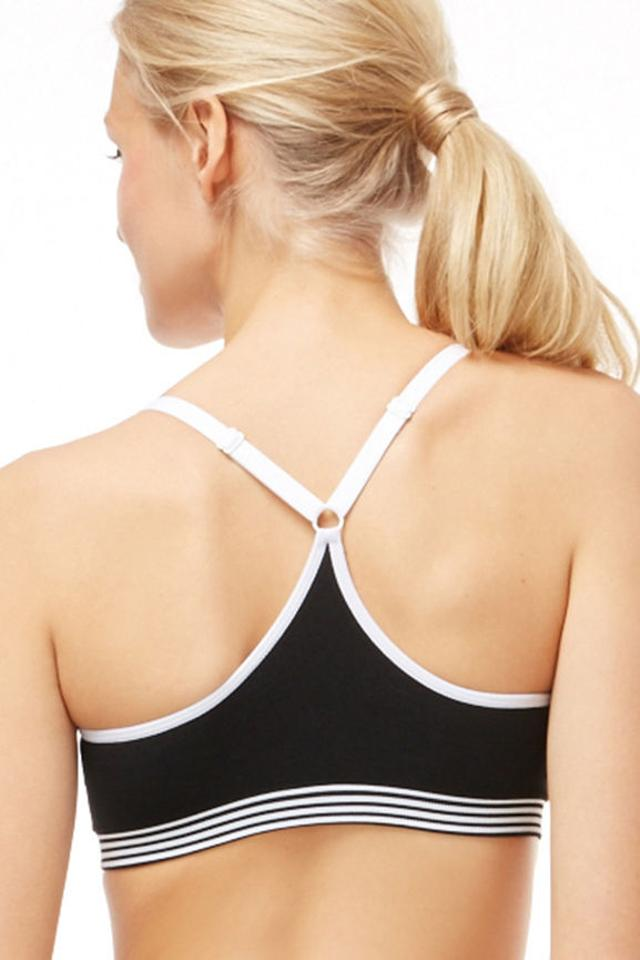3470fe9e4e4 Fabletics Black white Juneau Medium Activewear Sports Bra Size 8 (M ...