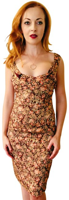 Zac Posen Bodycon Wiggle Sheath Floral Dress Image 1
