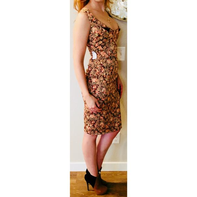 Zac Posen Bodycon Wiggle Sheath Floral Dress Image 5