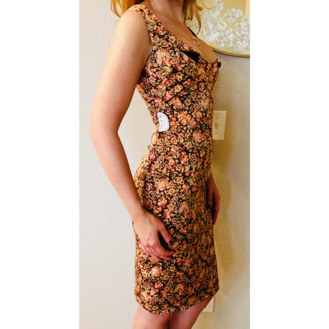 Zac Posen Bodycon Wiggle Sheath Floral Dress Image 6