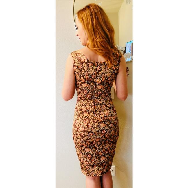 Zac Posen Bodycon Wiggle Sheath Floral Dress Image 7