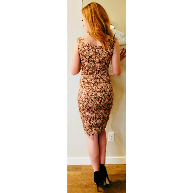 Zac Posen Bodycon Wiggle Sheath Floral Dress Image 8