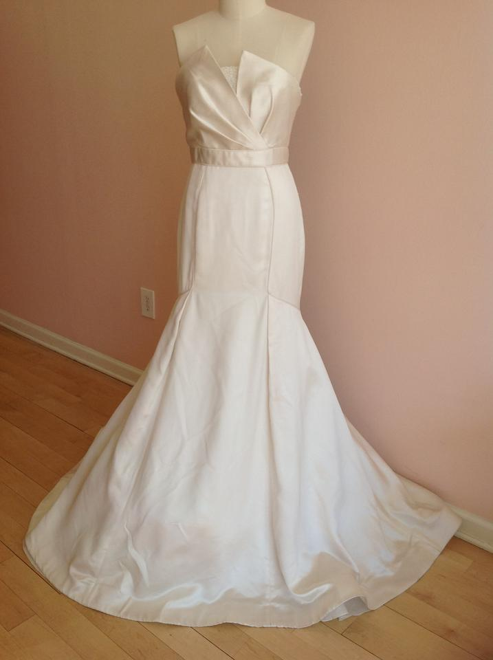 0b1df454a0a39 Theia Ivory Satin Madison 890067 Feminine Wedding Dress Size 10 (M) -  Tradesy
