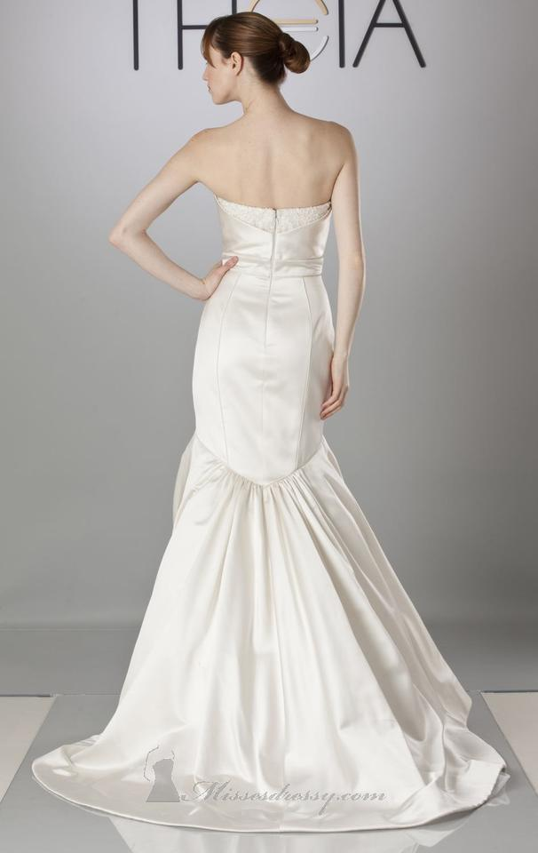 141861cd77738 Theia Ivory Satin Madison 890067 Feminine Wedding Dress Size 10 (M) Image  9. 12345678910