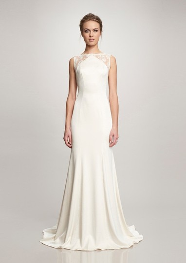 Theia Ivory Taylor 890068 Vintage Wedding Dress Size 10 (M) Image 1