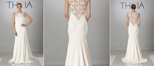 Theia Ivory Taylor 890068 Vintage Wedding Dress Size 10 (M) Image 2