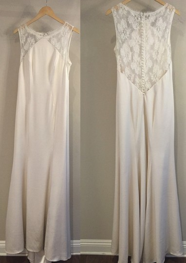 Theia Ivory Taylor 890068 Vintage Wedding Dress Size 10 (M) Image 3