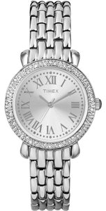 Timex Timex Women's T2P258 Silver Tone Stainless Crystal Glitz Watch