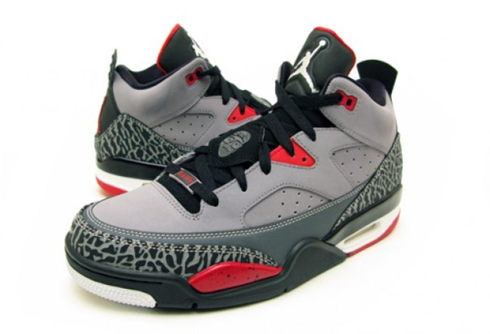 new arrival a6a41 dd59d Air Jordan Grey Son Of Mars Low Cement Grey/Black-fire Red-white Sneakers  Size US 11.5 Regular (M, B) 34% off retail