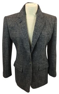 Ralph Lauren Black and Gray Houndstooth Blazer