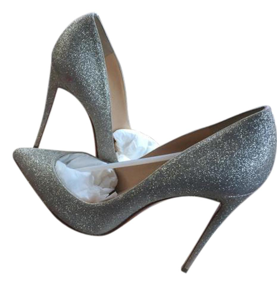 9ef6826844a6 Christian Louboutin Silver Multicolor Pigalle Follies 100 Glitter ...