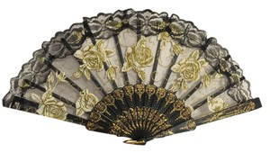 Other Embellished Rose Fan [ Roxanne Anjou Closet ]