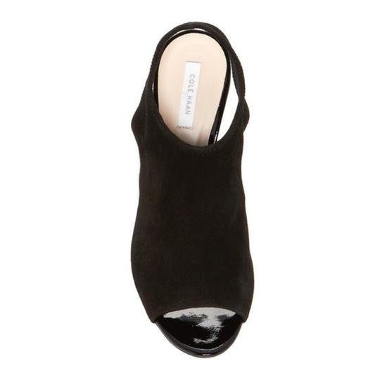 Cole Haan In The Box Suede Upper Leather Black Sandals Image 1