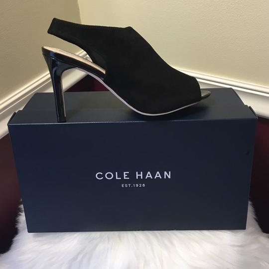Cole Haan In The Box Suede Upper Leather Black Sandals Image 3