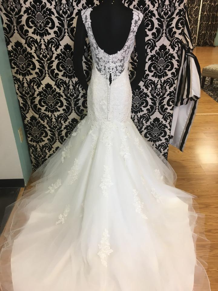 Mori Lee Ivory Lace and Tulle 5407 Vintage Wedding Dress Size 14 (L ...