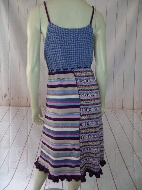 Purples, Blues, Pinks, Greens Maxi Dress by Hanna Andersson Tank Sweater Knit Pullover Stretch Knit Boho Image 1