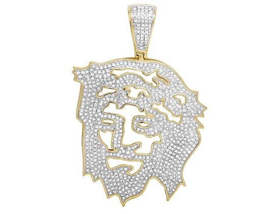 Preload https://img-static.tradesy.com/item/21857324/jewelry-unlimited-10k-yellow-gold-diamond-cutout-jesus-face-pendant-225-ct-25-charm-0-0-540-540.jpg