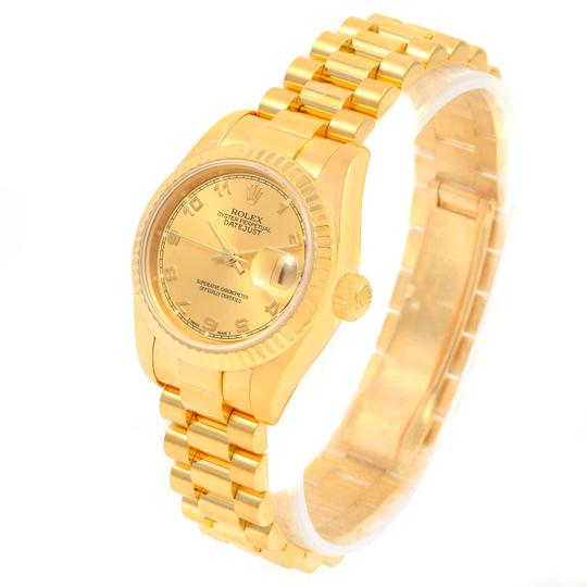 Rolex Rolex President Datejust Ladies 18k Yellow Gold Watch 179178 Image 6